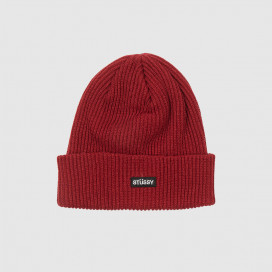 Шапка Stussy Small Patch WatchCap Beanie Cardinal
