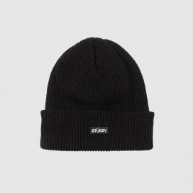 Шапка Stussy Small Patch WatchCap Beanie Black