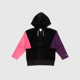 Толстовка с капюшоном женская Champion Hooded Half Zip Sweatshirt NBK/HER/MLZ