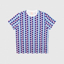 Футболка Champion Crewneck T-Shirt WHT/ALLOVER