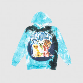 Dawg Chinatown Market Lightning Arc Hoodie Sky Blue Tie-Dye