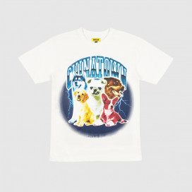 Футболка Chinatown Market Dawg Lightning Arc T-Shirt Cream