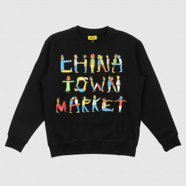 Толстовка Chinatown Market City Aerobics Crewneck Black