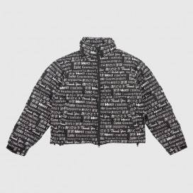 Куртка Chinatown Market MULTI LANGUAGE PUFFER JACKET Black