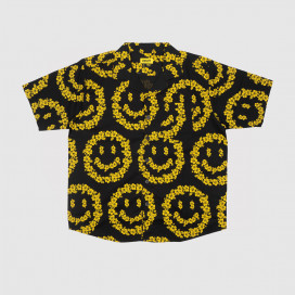 Рубашка Chinatown Market Smiley Floral Shirt Black