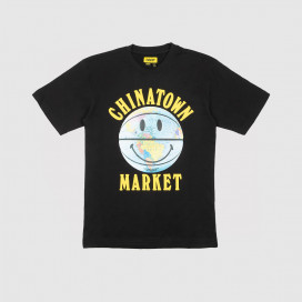 Футболка Chinatown Market Smiley Globe Ball Tee Black