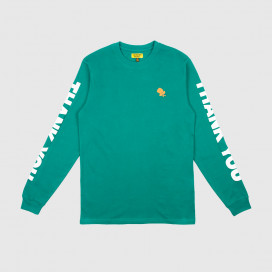 Лонгслив Chinatown Market THANK YOU LONG SLEEVE Spruce