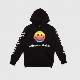 Толстовка с капюшоном Chinatown Market Smiley  Apple Hoodie Black