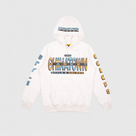 Толстовка с капюшоном Chinatown Market Cross Colors Hoodie Ash Grey