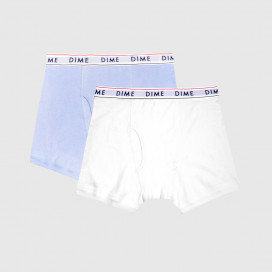 Трусы Dime Boxers 2-Pack Light Blue / White