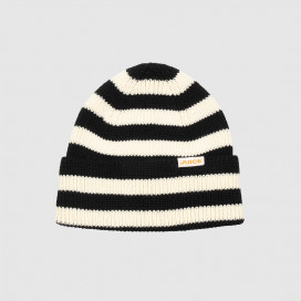 Шапка Juice Beanie Stripe Black-White