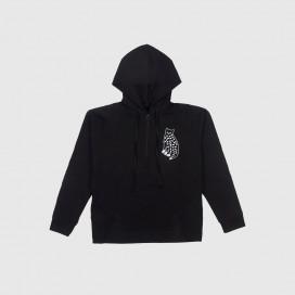 Толстовка с капюшоном KRASNOVA clothes Half Zip Hood Black