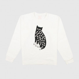 Толстовка KRASNOVA clothes Cat with eyes White