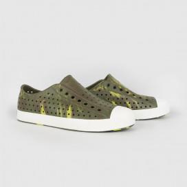 Кеды Native Shoes Jefferson Marbled Tuff Green/Shell White/Olivine Marble