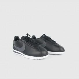 Кроссовки NIKE Classic Cortez Leather Black/Dark Grey - White