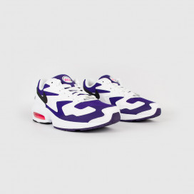 Кроссовки NIKE Air Max2 Llight Blanc/Violet Court/Noir