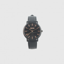 Часы Nixon Porter Leather A1058-957-00 All Black Rose Gold
