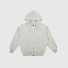 Толстовка с капюшоном Polar Stroke Logo Zip Hoodie Heather Grey