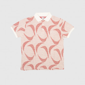 Поло Polar Patterned Polo Shirt Ivory/Red