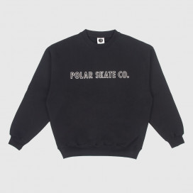 Толстовка Polar Outline Crewneck Black