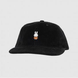 Кепка Pop Trading Company Miffy Cord 6 Panel Hat Black