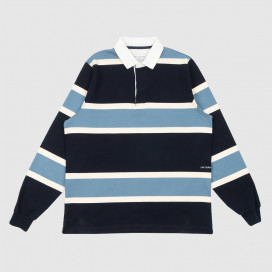 Поло Pop Trading Company Rugby Navy/Blue/White