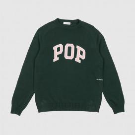 Свитер Pop Trading Company Arch Knitted Crewneck Bistro Green