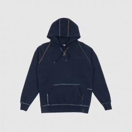 Толстовка с капюшоном Pop Trading Company Logo Embroidered Hooded Sweat Navy/Multi