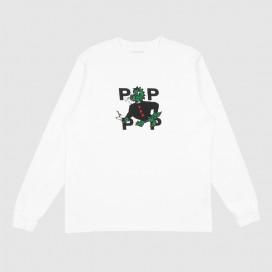 Лонгслив Pop Trading Company Smoking Dragon Longsleeve T-Shirt White