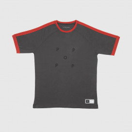 Футболка Pop Trading Company Keenan T-shirt Charcoal/Pepper Red