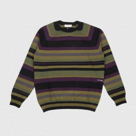 Свитер Pop Trading Company Striped Knitted Crewneck Multicolour