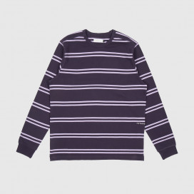 Лонгслив Pop Trading Company Striped Logo Dark purple/Violet