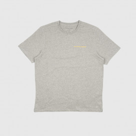 Футболка Pop Trading Company Logo T-shirt Heather Grey/Yellow