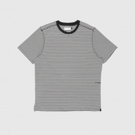 Футболка Pop Trading Company Striped Logo Black/White