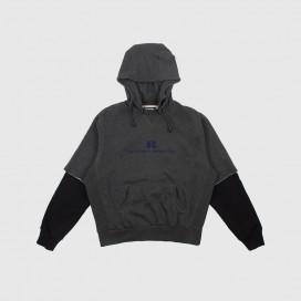 Толстовка с капюшоном РАССВЕТ Mens Hoodie Sweatshirt Woven Grey