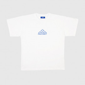 Футболка РАССВЕТ Mens Large Logo White