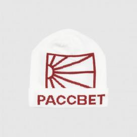 Шапка РАССВЕТ Men's Acrylic Logo Beanie Knit White