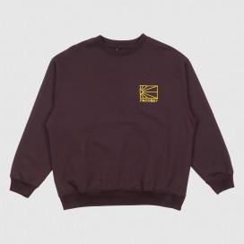 Толстовка РАССВЕТ Men's Cotton Logo Sweatshirt Knit Maroon