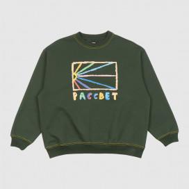 Толстовка РАССВЕТ Men's Cotton Pastel Sweatshirt Knit Green