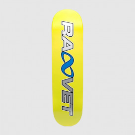 Дека РАССВЕТ Skateboard  Wood Sun Logo Yellow