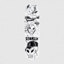 Дека РАССВЕТ Skateboard Pro Board Wood Titaev Pattern/White