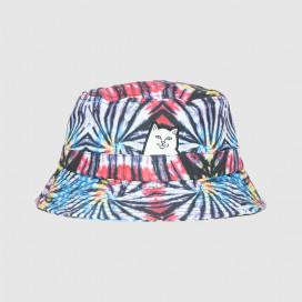 Панамка RIPNDIP Lord Nermal Cotton Dyed Bucket Hat Sunburst Spiral Tie Dye