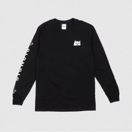 Лонгслив RIPNDIP Lord Nermal Pocket Tee LS Black