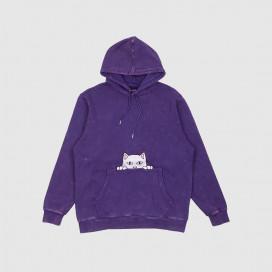 Толстовка с капюшоном RIPNDIP Peeking Nermal Embroidered Hoodie Purple Mineral Wash