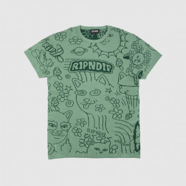 Футболка RIPNDIP Scribble Knitted Tee Forest Green