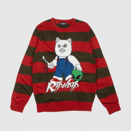 Свитер RIPNDIP Childs Play Knitted Sweater Red Olive