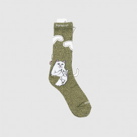 Носки RIPNDIP Lord Nermal Socks Green & Grey Speckle
