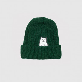 Шапка RIPNDIP Lord Nermal Ribbed Beanie Hunter Green
