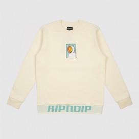 Толстовка с капюшоном RIPNDIP Open Mind Crewneck Sweater Natural