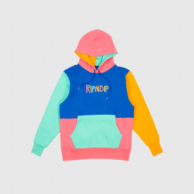 Толстовка с капюшоном RIPNDIP Color Block Multi Panel Hoodie Multi